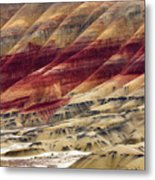 Painted Hills Contour Metal Print
