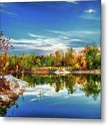 Painted Klondike Autumn Metal Print