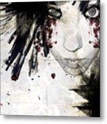 Painted Lady Metal Print
