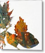 Painted Leaves Abstract 1 Metal Print