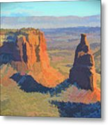 Painted Mesa Metal Print