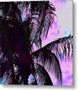 Painted Palms 4 Metal Print