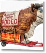 Painted Pony Rodeo Lake George Metal Print