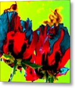 Painted Poppies Metal Print