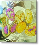 Painted Potato Chips Metal Print