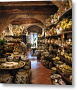 Painted Pottery Metal Print