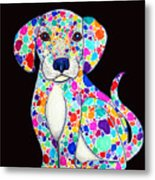 Painted Puppy 2 Metal Print by Nick Gustafson