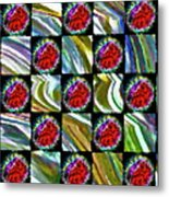 Painted Quilt Metal Print