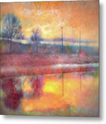 Painted Reflections Metal Print