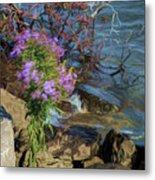Painted River Flower Metal Print
