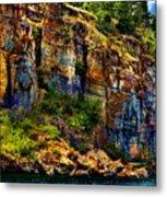 Painted Rock - Flathead Lake Metal Print