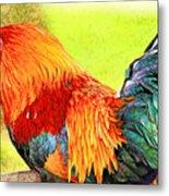 Painted Rooster Metal Print