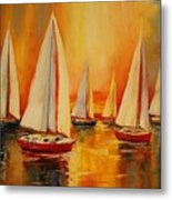 Painted Sails Metal Print