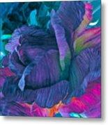 Painted Silk Metal Print