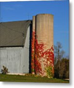 Painted Silo Metal Print