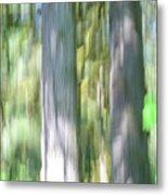 Painted Streaked Trees Metal Print
