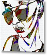 Painted Sunglasses Metal Print