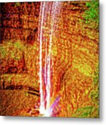 Painted Tews Falls					 Metal Print