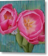 Painted Tulips Metal Print