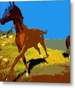 Painted War Horses Metal Print