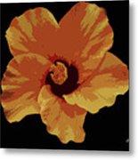 Painter Hibiscus Metal Print