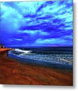 Painterly Beach Scene Metal Print