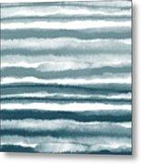 Painterly Beach Stripe 1- Art By Linda Woods Metal Print