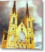 Painterly Church Metal Print