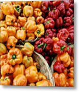 Painterly Peppers Metal Print