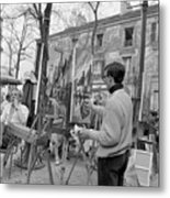 Painters In Montmartre, Paris, 1977 Metal Print