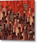 Painting 773 1 Seattle Skyline Metal Print