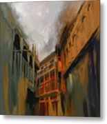 Painting 791 4 Wooden Architecture Metal Print