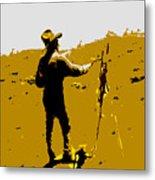 Painting Cowboy Metal Print