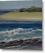 Painting Happy Valley Caloundra Qld Plein Air Painting Metal Print