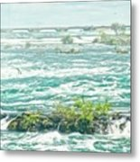 Painting Of Niagara Falls Metal Print