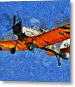 Painting Of Pezetel Aircraft Of Hellenic Air Force Metal Print
