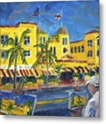 Painting on the Avenue Metal Print