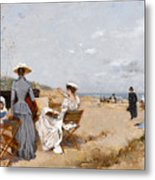Painting On The Beach  Metal Print