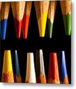 Painting Pencils Metal Print
