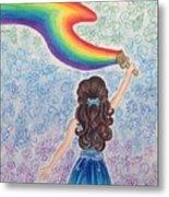 Painting Rainbow Metal Print