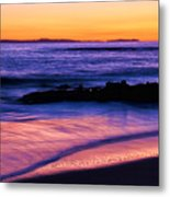 Painting The Ocean Metal Print
