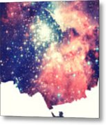 Painting The Universe Awsome Space Art Design Metal Print