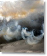 Painting With The Smoke Metal Print