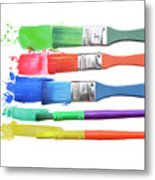 Paints And Brushes  Metal Print