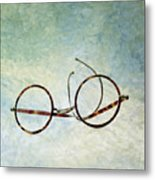 Pair Of Glasses Metal Print