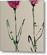 Pair Of Pinks Metal Print