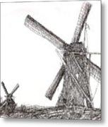 Pair Of Windmills 2016 Metal Print