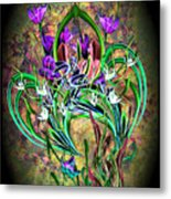 Paisley Floral Metal Print