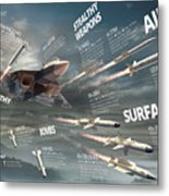 Pak Fa Armament Infographic Metal Print