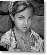 Pakistani Girl Metal Print